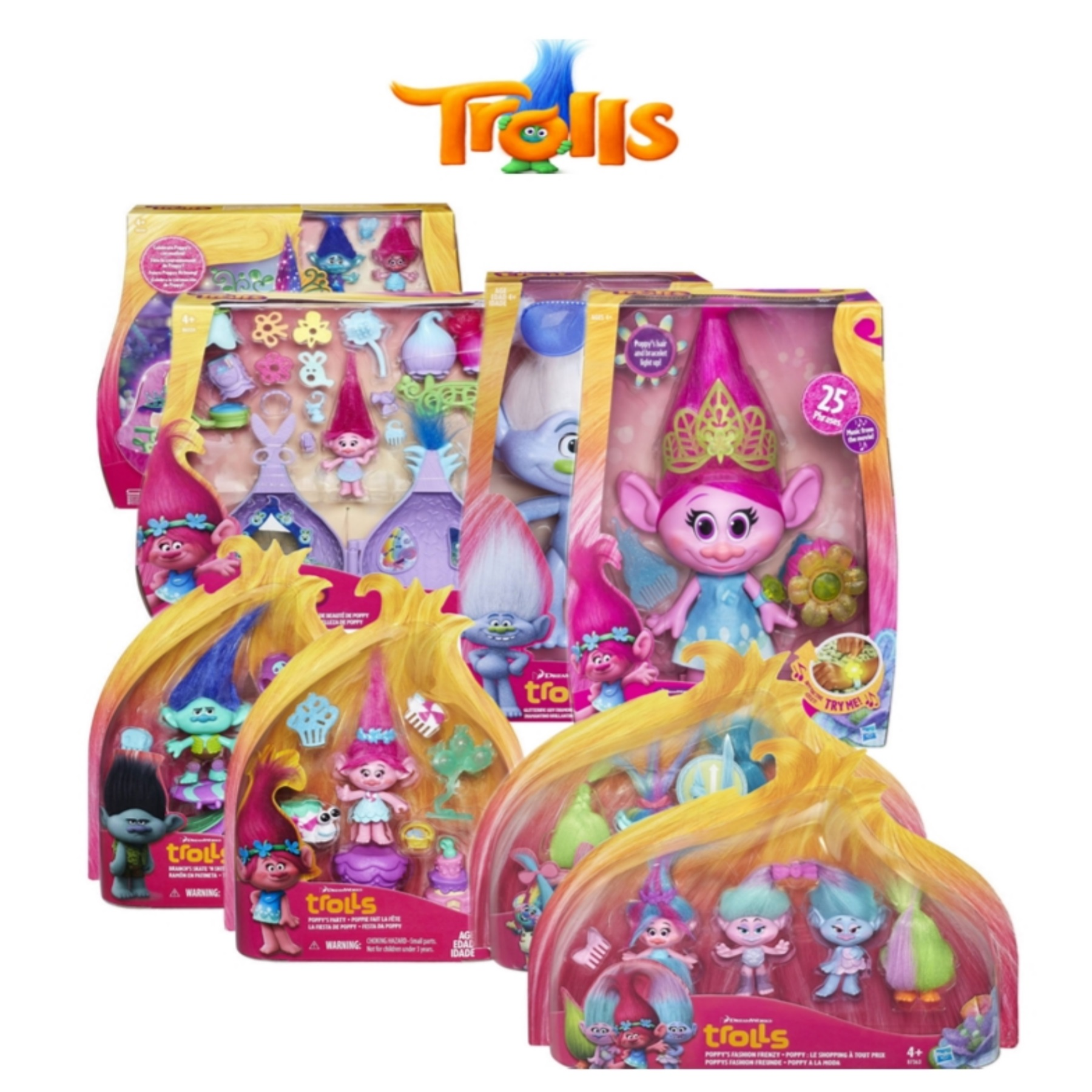 Toys From Hasbro : Hasbro kids dreamworks trolls new collectables fun girls
