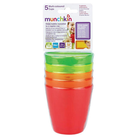 Munchkin Kids Fun Multi Coloured Drinking Transition Cup Toddler Child Kids 5PK Thumbnail 3