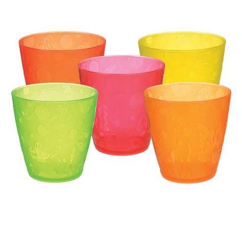 Munchkin Kids Fun Multi Coloured Drinking Transition Cup Toddler Child Kids 5PK Thumbnail 2