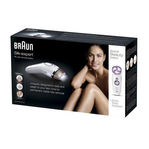 Braun Silk-Expert IPL Hair Removal System & Sonic Body Exfoliator Body & Face Thumbnail 6