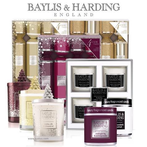 Baylis & Harding Festive Holiday Dinner Candles & Crackers Christmas Decor Gifts Thumbnail 1
