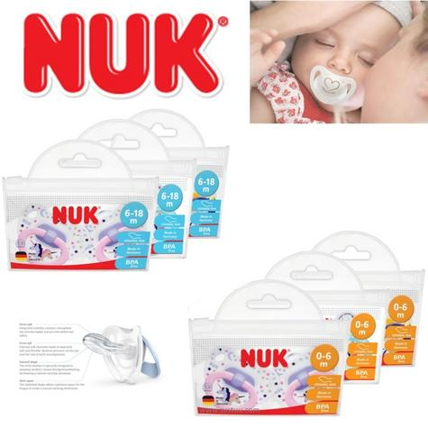 NUK Classic Happy Days Baby Soother Silicone 2 Pack Orthodontic Infant Dummies Thumbnail 1