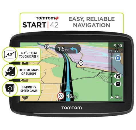 new tomtom start 42 gps satnav uk western europe. Black Bedroom Furniture Sets. Home Design Ideas