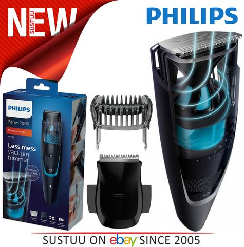 Philips Series 7000 Men's Beard & Stubble Easy Clean Less Mess Vacuum Trimmer  Thumbnail 1