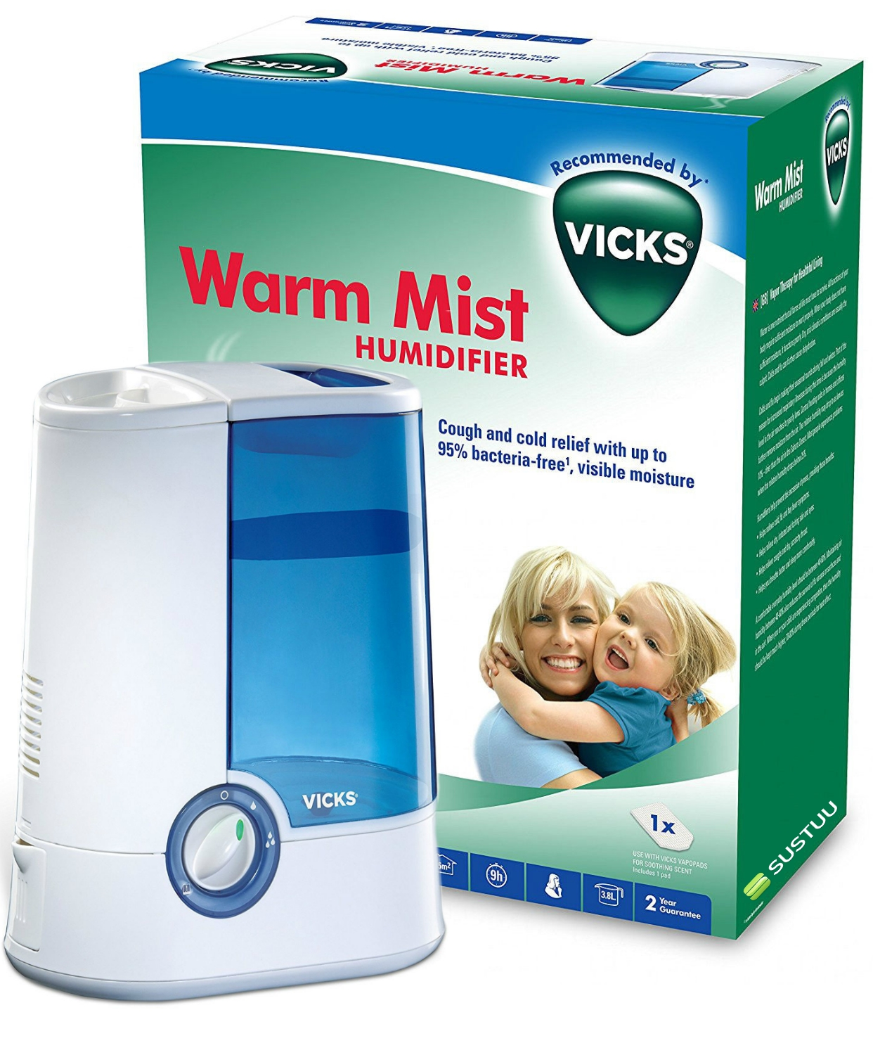 about Vicks VH750 3.8l Warm Mist Humidifier for Cough & Cold Relief #027448