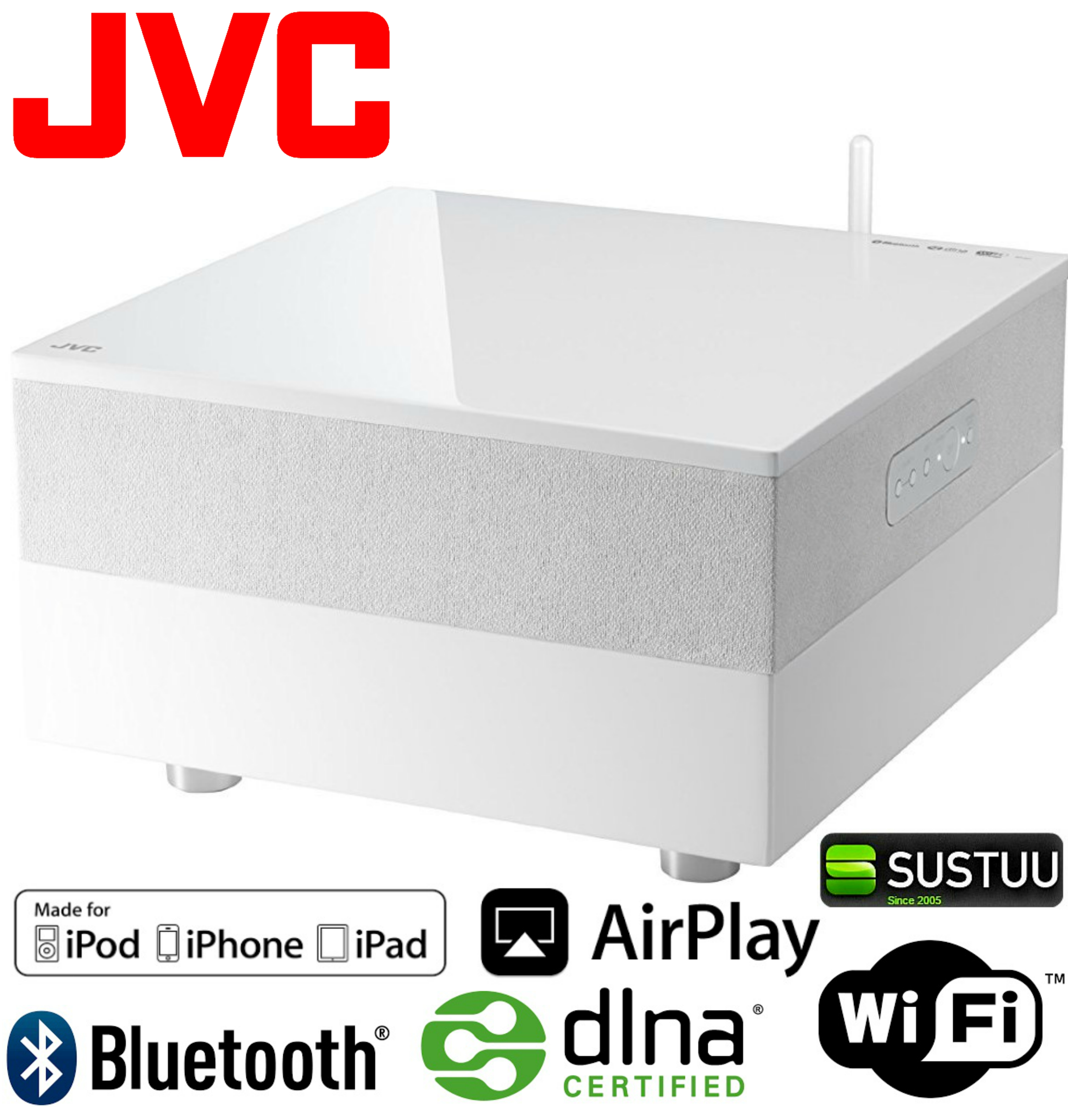 JVC SP-AP1 Wireless Bluetooth WiFi AirPlay DNLA 4.1 Speaker System for iPhone
