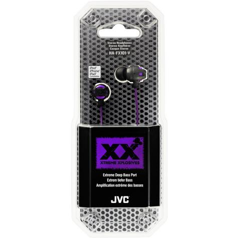JVC HA-FX101 Xtreme Xplosives In Canal Earphones for iPhone or MP3 Player Violet Thumbnail 2