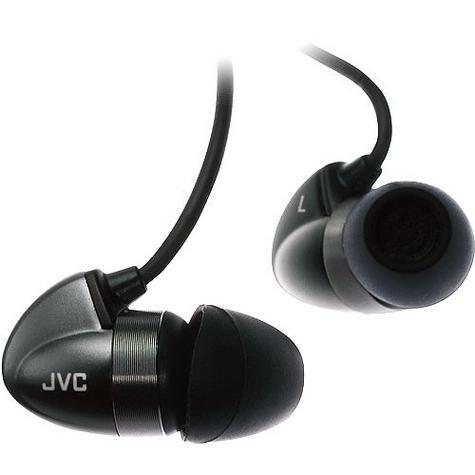 JVC HA-FX300 In-Ear Bi-METAL Headphones For Android Smartphone iPhone iPod BLACK Thumbnail 1