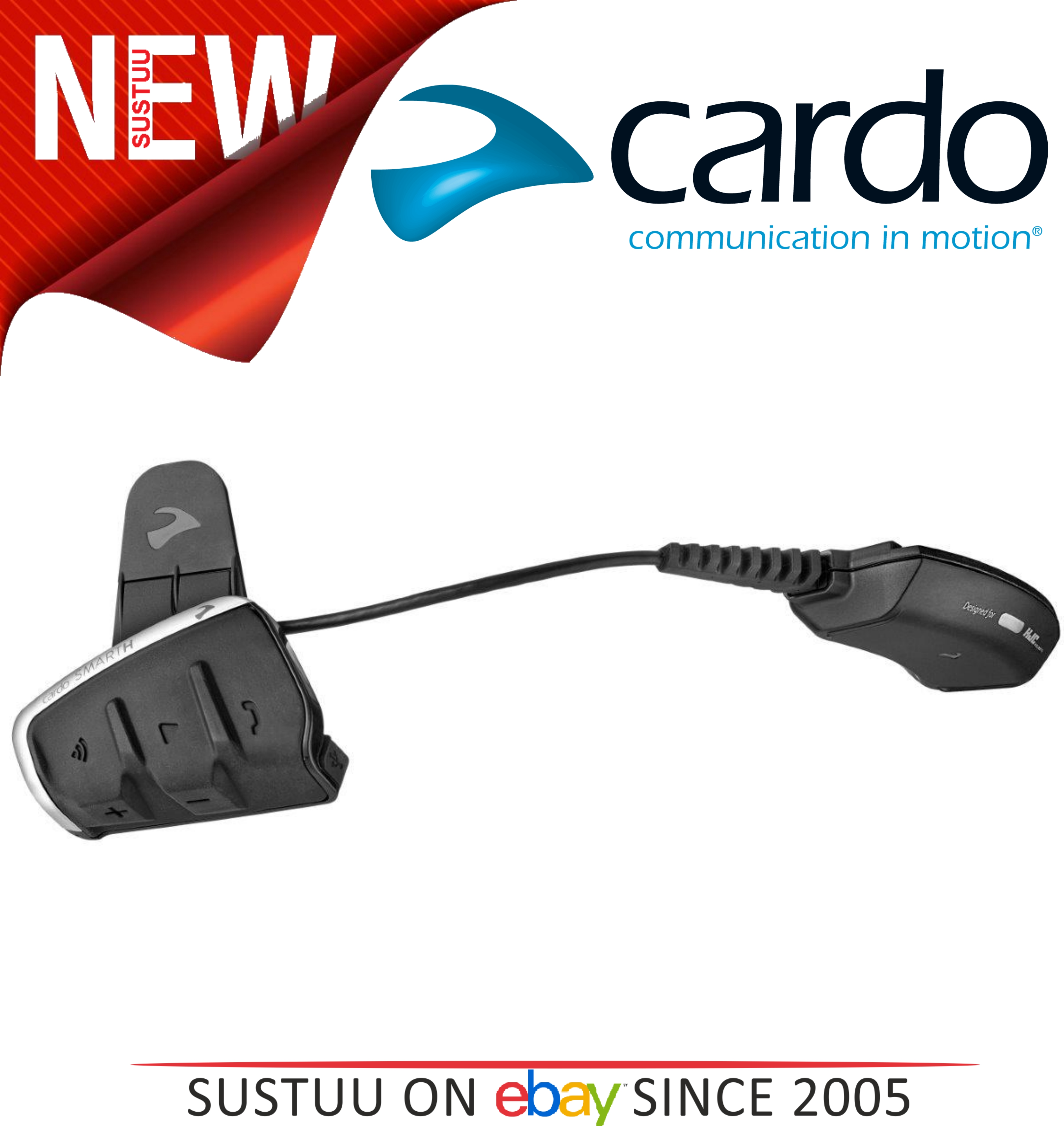 Cardo Scala Smarth Rider Single Motorcycle communication Headset Kit HJC Helmets