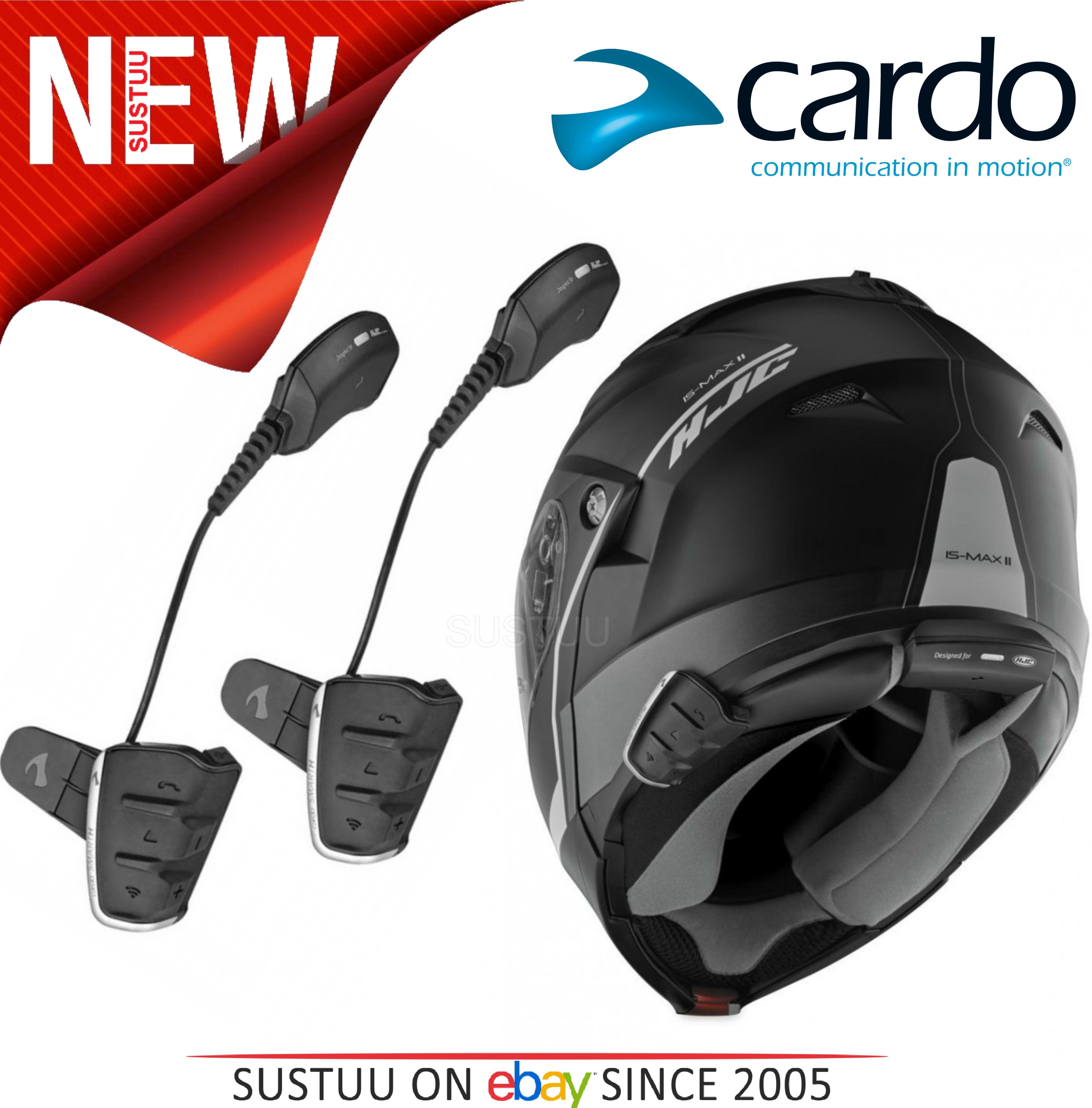 Cardo Scala Smarth Rider Duo Motorcycle Headset HD Speakers DMC Kit HJC Helmets