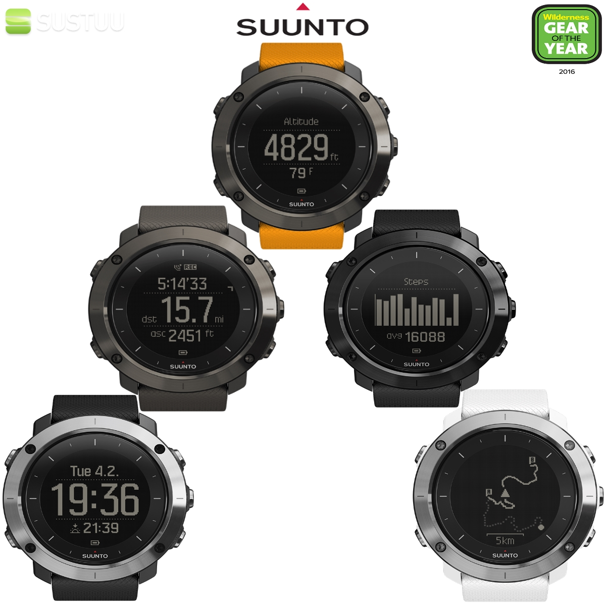 suunto traverse multi sport gps outdoor h henmesser. Black Bedroom Furniture Sets. Home Design Ideas