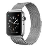 Apple Watch 42mm Stainless Steel Case Red Sport Band  & FREE Milanese Loop Strap