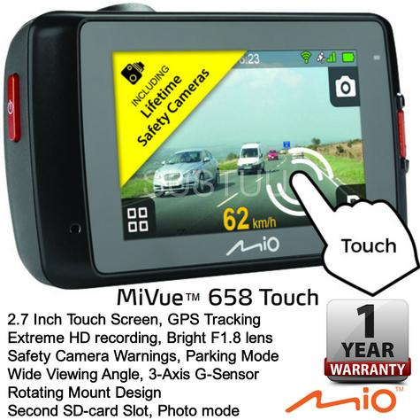"Mio MiVue 658 2.7"" Touch Screen In Car Dashcam GPS Extreme HDR Accident Recorder Thumbnail 1"