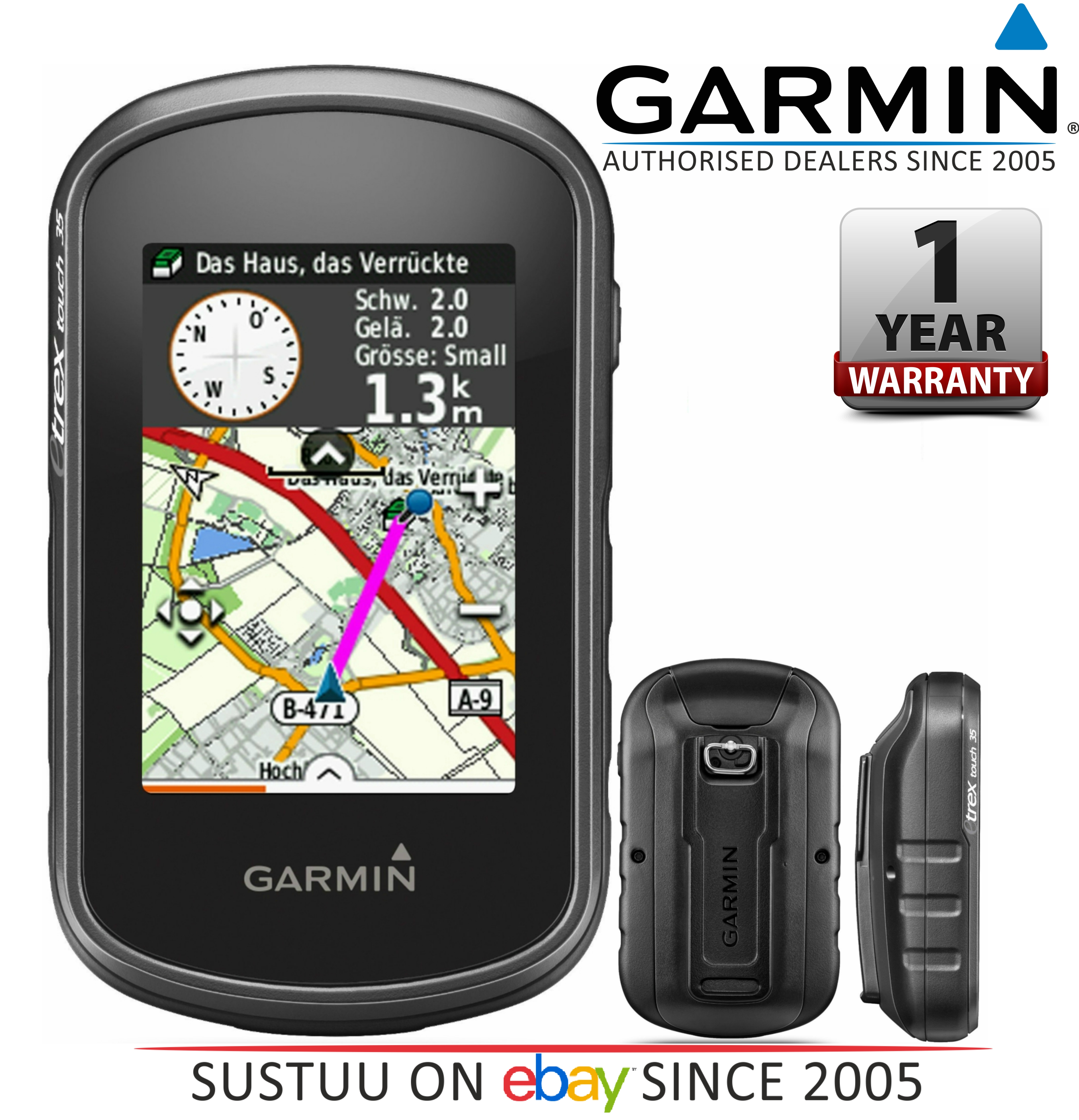 Garmin eTrex Touch 35 GPS Outdoor Handheld Navigator with TopoActive Europe Maps | eBay