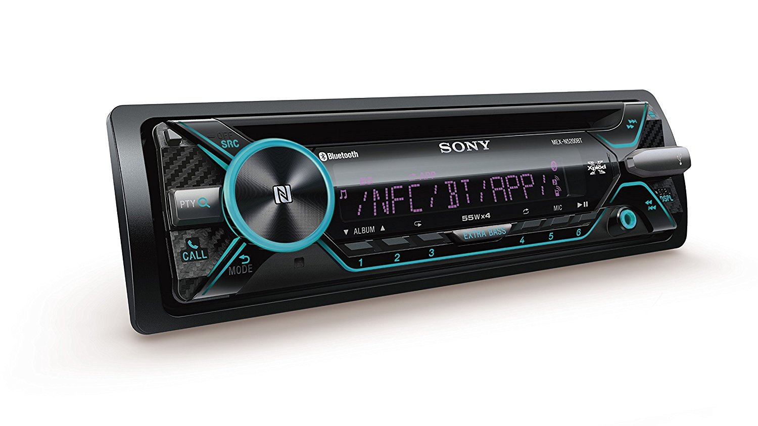 Aux Radio Cd Mp3 Wma Ipod Iphone Color Illuminatin Sony