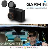Garmin Dash Cam 55 HQ 1440P?GPS/G Sensor Driving Alerts & Recorder?Voice Control