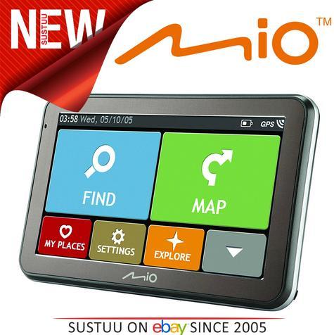 "Mio Spirit 5400LM 4.3"" GPS SatNav Western EU Liftime Maps IQ Routes 5413N5020010 Thumbnail 1"
