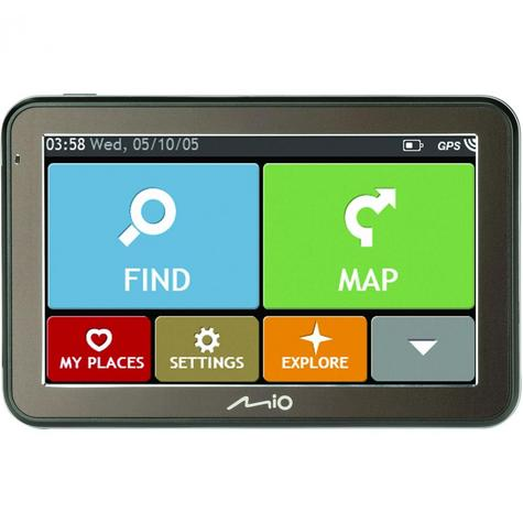 "Mio Spirit 7500LM 5""In Car GPS SatNav Lifetime EU Maps Space Grey - 5413N5020013 Thumbnail 3"
