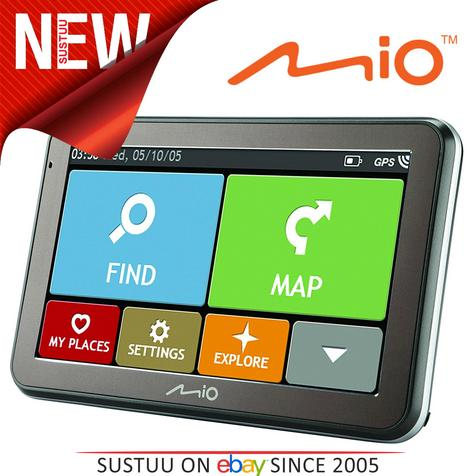 "Mio Spirit 7500LM 5""In Car GPS SatNav Lifetime EU Maps Space Grey - 5413N5020013 Thumbnail 1"