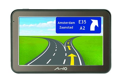 "Mio Spirit 7500LM 5""In Car GPS SatNav Lifetime EU Maps Space Grey - 5413N5020013 Thumbnail 4"
