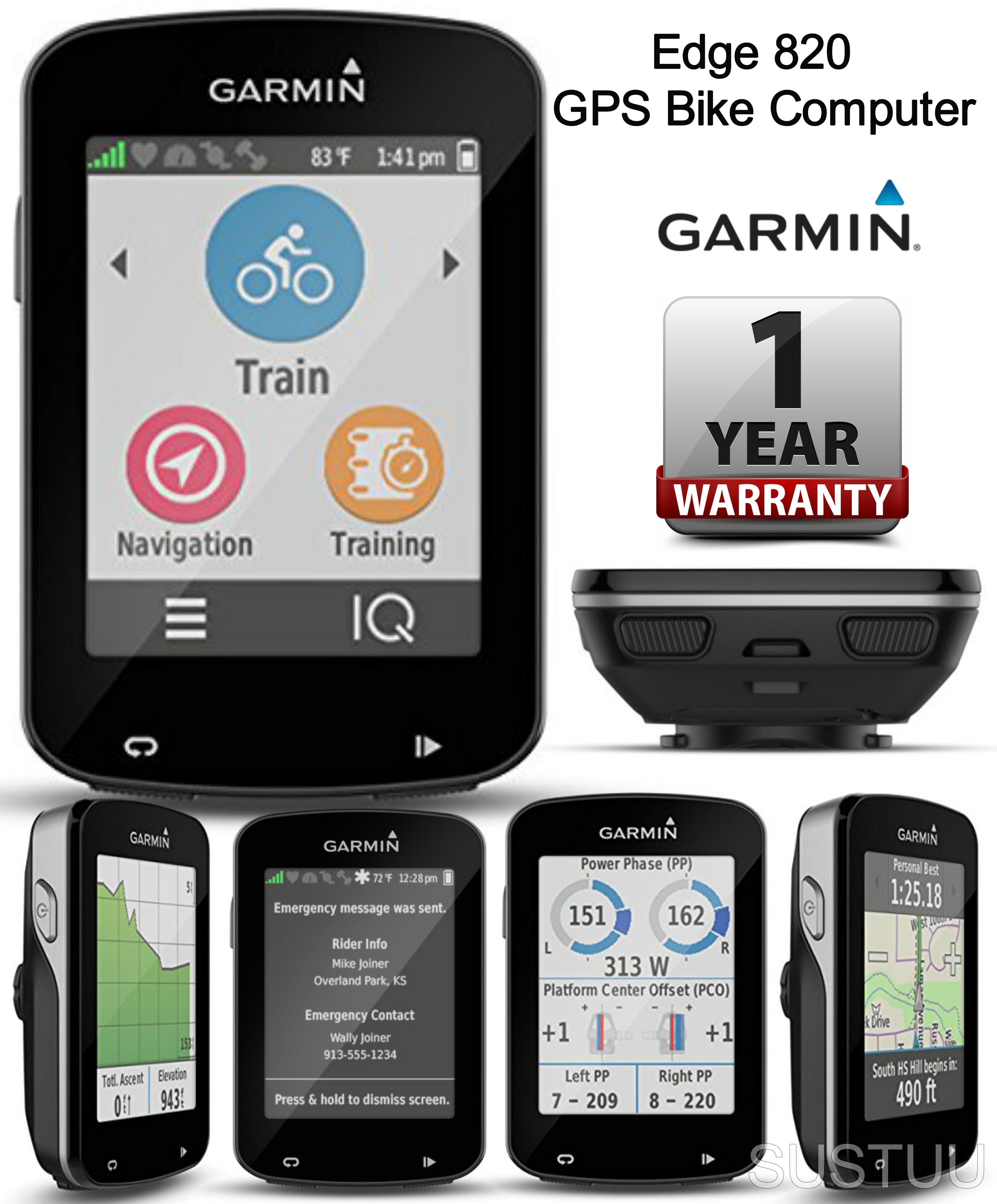 Garmin edge 820 gps v lo de cyclisme sport sat nav ordinateur bord 010 01626 - Velo salle de sport pro ...