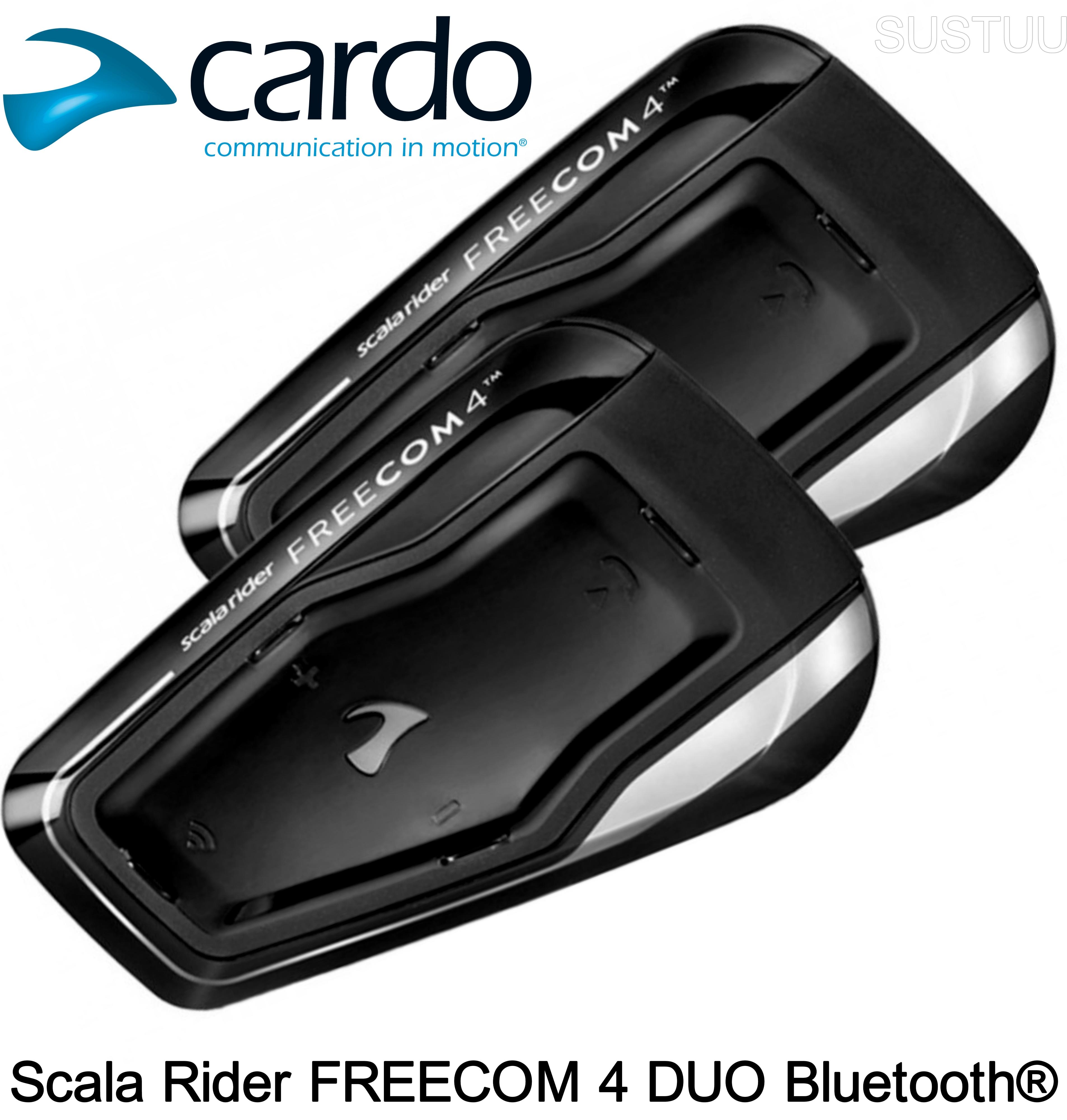 cardo scala rider freecom 4 duo motorcycle intercom bluetooth headset 4 1 set 2. Black Bedroom Furniture Sets. Home Design Ideas