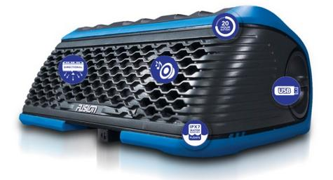 Fusion Stereo Active Waterproof Speaker Bluetooth/USB/AM/FM/iPhone/Android BLUE Thumbnail 5