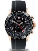 Sekonda Men's Black Dial Chronograph Black Silicone Strap Watch 3101