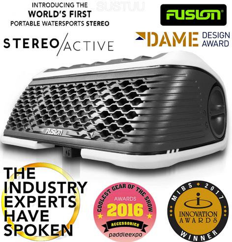 Fusion StereoActive Waterproof Floating Bluetooth Speaker with ActiveSafe WHITE Thumbnail 2