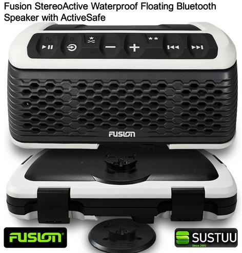 Fusion StereoActive Waterproof Floating Bluetooth Speaker with ActiveSafe WHITE Thumbnail 1