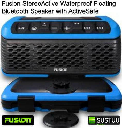 Fusion StereoActive Waterproof Floating Bluetooth Speaker with ActiveSafe - BLUE Thumbnail 1