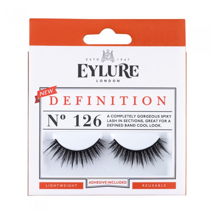 Eylure Definition 126 Ladies Adhesive Reusable Easy Apply False Strip Eyelashers