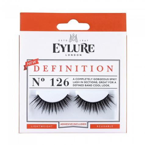 Eylure Definition 126 Ladies Adhesive Reusable Easy Apply False Strip Eyelashers Thumbnail 1