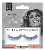 Cheryl Length Lashes by Eylure 114 Ladies Adhesive Easy Reusable Eyelashers