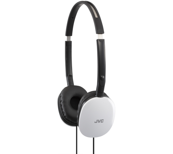 JVC Flats Foldable Stereo Earphones for iPhone MP3 Player Deep Bass White