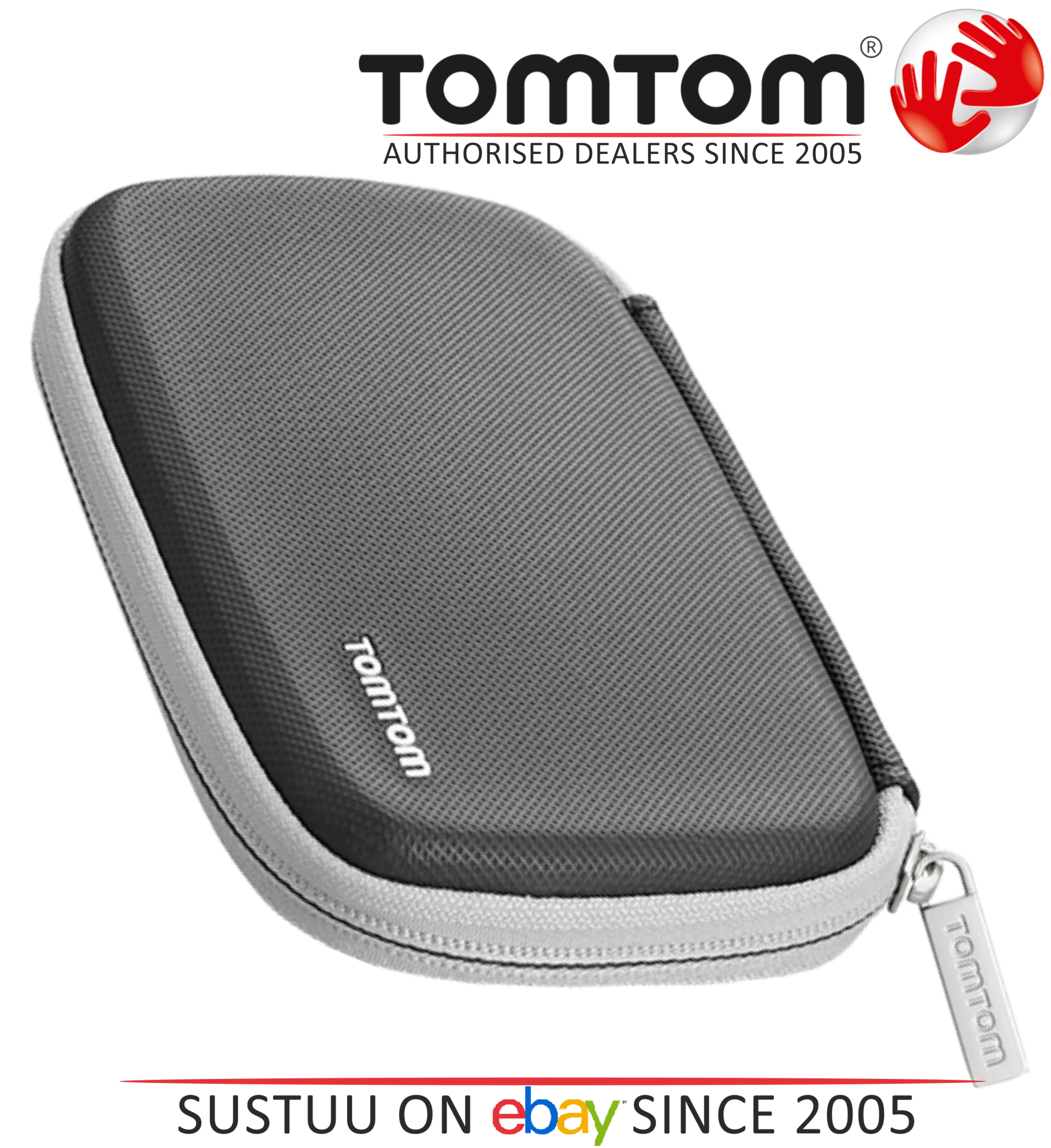 """TomTom 9UUA.001.63 Classic Carry Protective Case BLACK For 4.3"""" & 5"""" SatNavs NEW"""
