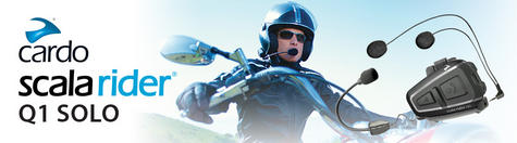 Cardo Scala Q1 Motorcycle Bluetooth Intercom Headset GPS MP3 FM Rider-Passenger Thumbnail 3
