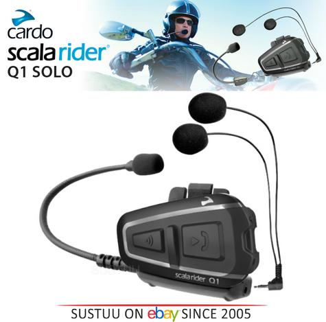 Cardo Scala Q1 Motorcycle Bluetooth Intercom Headset GPS MP3 FM Rider-Passenger Thumbnail 1