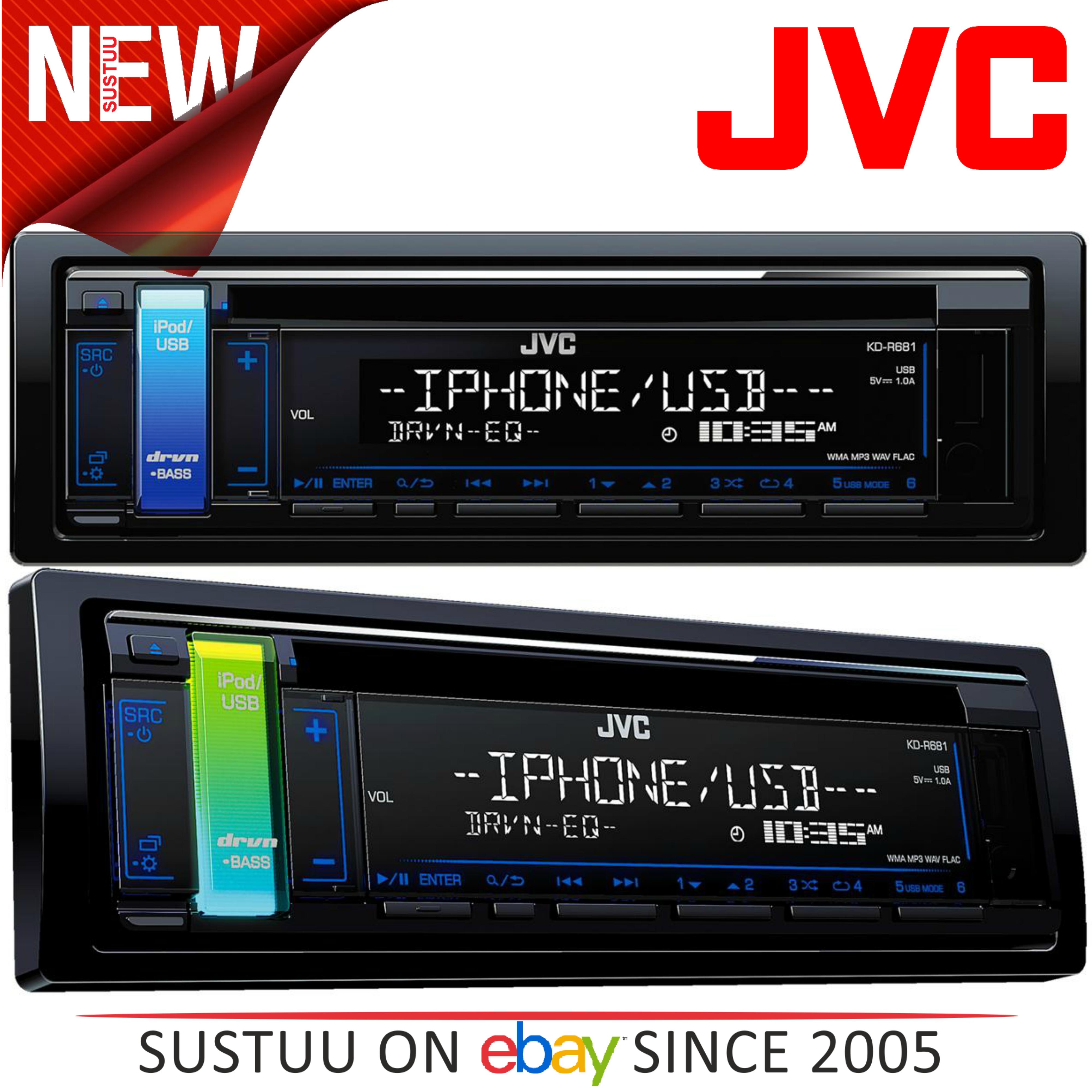 JVC Car Stereo/Headunit Radio│CD│MP3│WMA│FLAC│USB│AUX