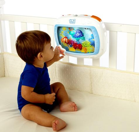 Baby Einstein Crib Sea Dream Soother Melodise Music & Lights Crib Cot Toy Mobile Thumbnail 3