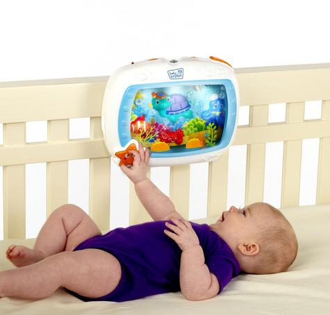 Baby Einstein Crib Sea Dream Soother Melodise Music & Lights Crib Cot Toy Mobile Thumbnail 4