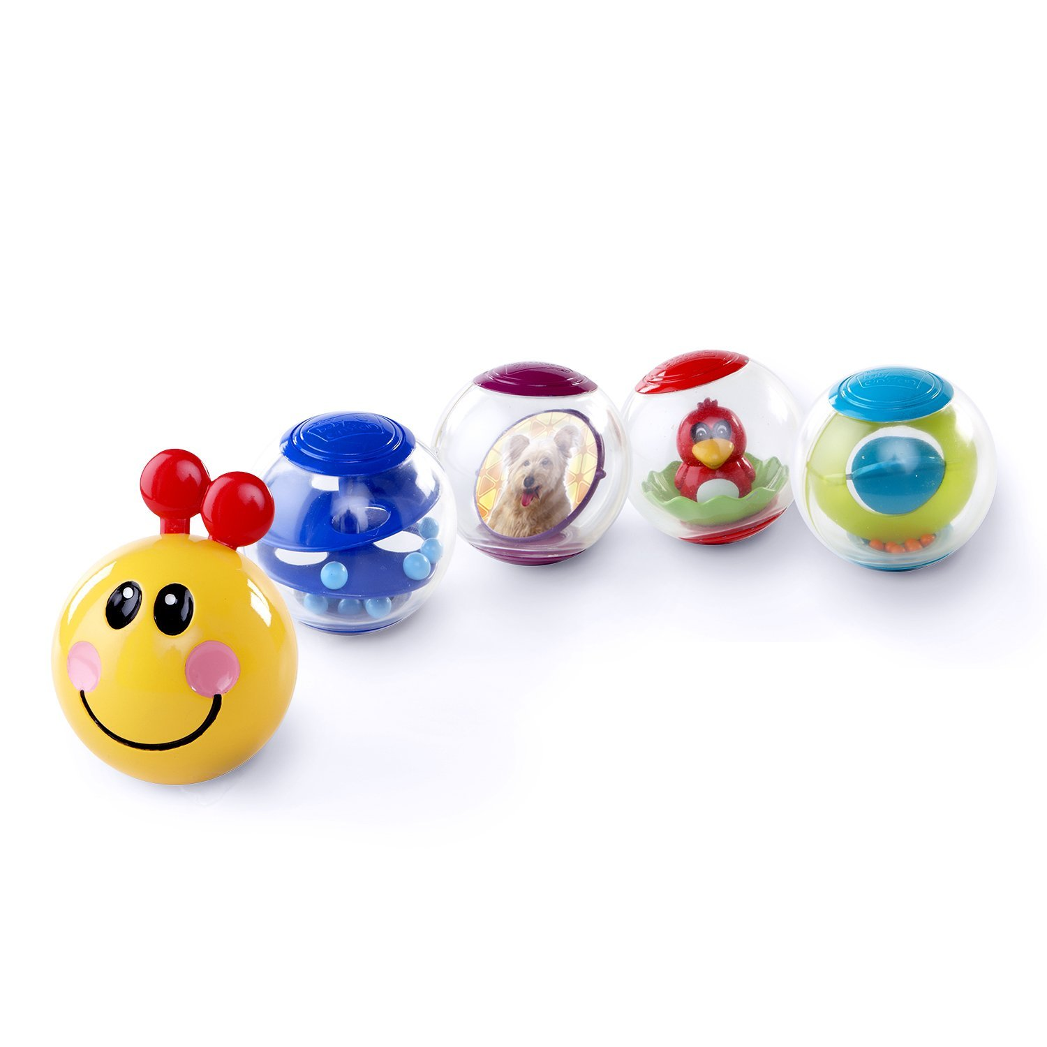 Baby Einstein Roller Pillar 5 Activity Balls, Kids Creative Sensory Relief Toy