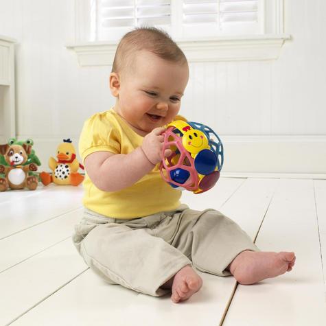 Baby Einstein Bendy Ball Bright Colours Development Easy Grasp & Teething Toy Thumbnail 5