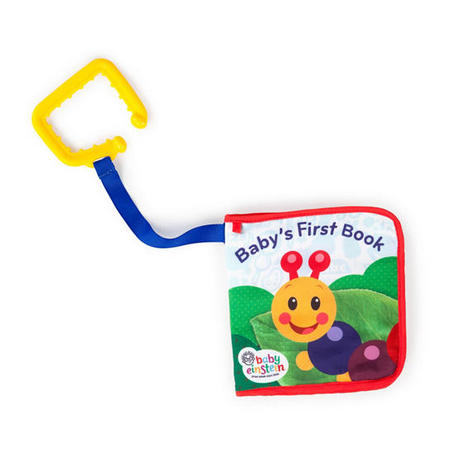 Baby Einstein Explore & Discover Learning Easy Grasp Teething Soft Book Toy Thumbnail 1