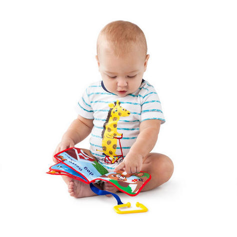 Baby Einstein Explore & Discover Learning Easy Grasp Teething Soft Book Toy Thumbnail 2