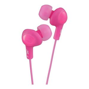 JVC GUMY PLUS Ear Bud Earphones for iPhone MP3 Player - Peach Pink Thumbnail 1