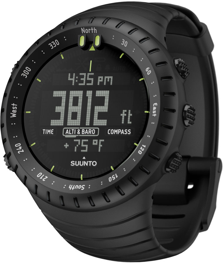 Suunto core all black outdoor military altimeter barometer compass sports watch ebay for Watches with compass