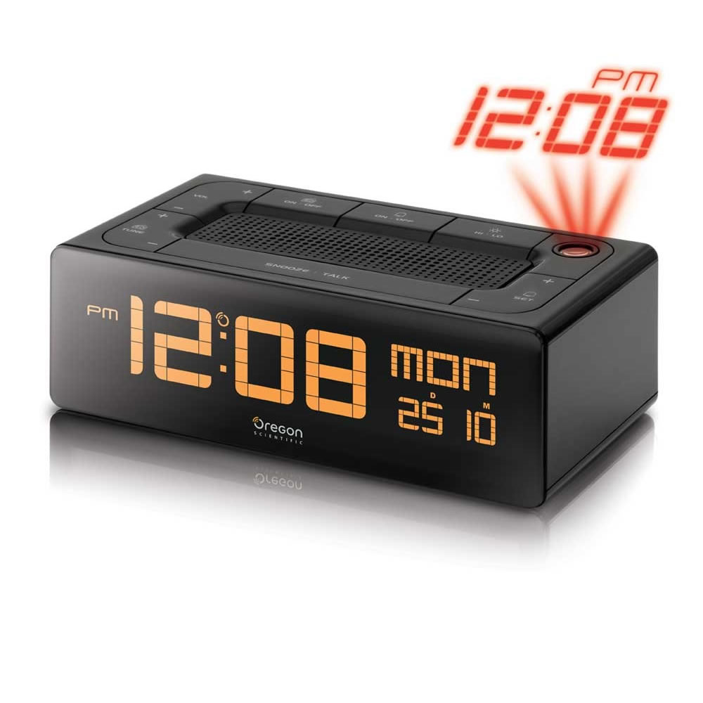 oregon scientific ec101 clock radio alarm projection clock large display new ebay. Black Bedroom Furniture Sets. Home Design Ideas