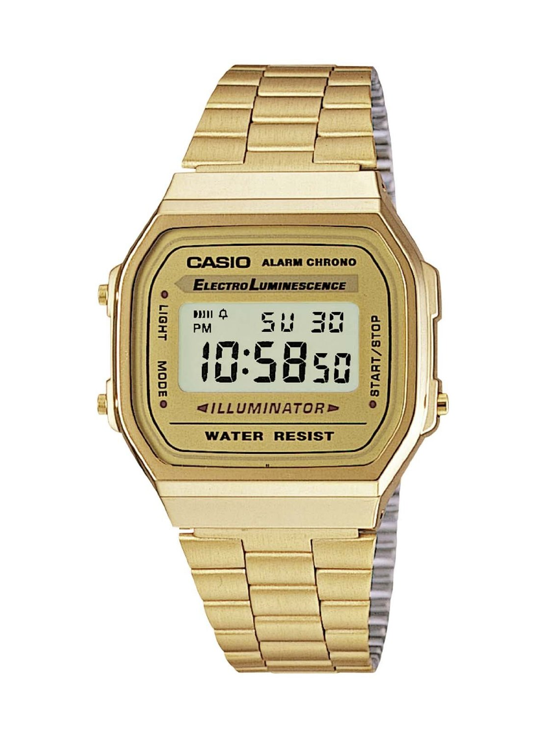 casio vintage retro gold colour classic lcd digital