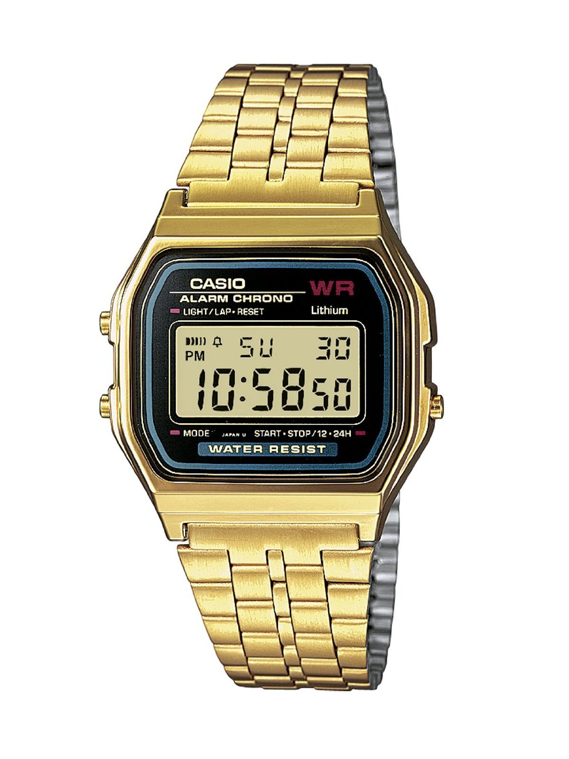 Casio Classic Original Retro Gold LCD Digital Watch ...